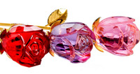 Crystal crystal craft - Hot Sale Color Crystal Glass Flower Rose quot Saying Love Crystal Art Craft Valentines Day Gift Favors
