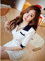 Wholesale Fashion women s Sexy Dress shirts Dresses women Clothes coat Uniform double breasted slim dress