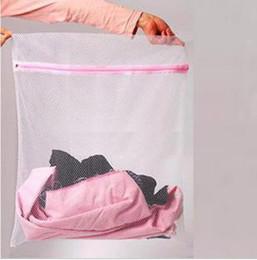 Wholesale creative home white coarse mesh lingerie laundry bag nursing bra wash bag