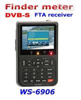 venda por atacado satlink ws-6906-Satlink WS-6906 digitais receptor de satélite localizador de metros DVB-S FTA Receptor do 3.5 '' 1pcs tela LCD