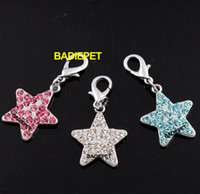 Wholesale 3olors Luxury Diamond Star Dog Pet Pendant Charm Pet Fashion Jewelry Pet Product Dog Accessory