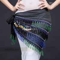 Sequin Belly Dancing free size (medium) Belly dance hip scarf of Egyptian Indian dancing bely women wear costumes accessories tribal hip tow