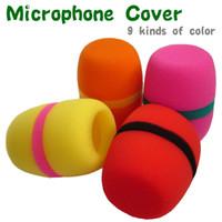 Wholesale Flat Microphone Windscreen Foam Cover Microphone Grill Cover Audio Mic Shie