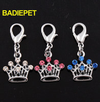Wholesale Cute Caystal Crown Dog Pet Pendant Charm with Lobster Clip Fashion Pet Jewelry Decorations Pet Supplies Pet Product