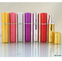 Wholesale 5ml Aluminum Perfume Bottle Atomizer Glaze Metal Fragrance Bottles Spray Vials Various Colours