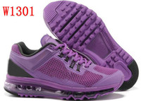 Wholesale 2013 Purple Mesh Breathable Design Women s Air Running Shoes Ladies Fashion Training Sneakers Eur35 Size Hotsale New In Box Fast Delivery