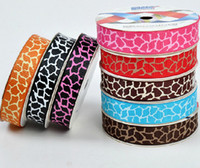 Wholesale hot quot quot quot quot color leopard yards children Hair Bow DIY grosgrain ribbons