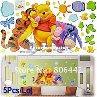 Wholesale Cartoon Animal PVC Wall Sticker Wall Decal Wallpaper Room Sticker House Sticke