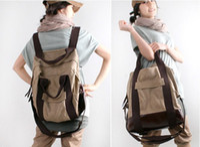 Wholesale Unisex Canvas Handbag Teenager School Bag Casual Canvas Bag Student Backpack Colors