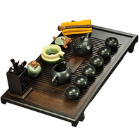 Wholesale Kung fu tea teaberries set tea set ebony wood tea sea yixing tea set