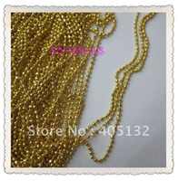 Wholesale MDA D meters bag Gold Tiny Beads Without Facets Chain Shape Metal Nail Decoration Lovely Out