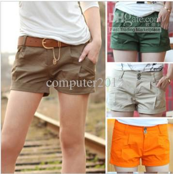 Women Fashion Shorts Leasure Bootcut Short Pants Casual Wear Plus ...