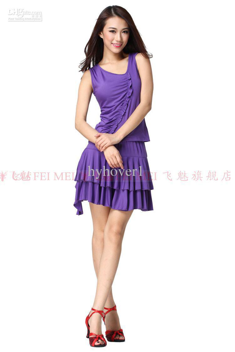 Discount New Latin Dance Dresses Clothing Set Women Costumes Dress ...