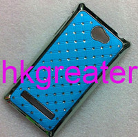 Wholesale Luxury Bling Diamond Crystal Star Plated Hard Case Cover For HTC Windows Phone X C620e Ac