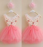 Baby girl kids Floral Tutu Dress flower tutu dress princess ...