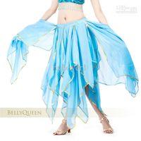 Wholesale Belly dance skirt leaf chiffon dresses women wear costumes big skirt of Indian dance performances