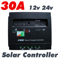 Wholesale 30A Solar Charge Controller Regulator with Light and timer V W V W solar panel PV system