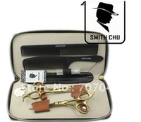 Wholesale SMITH CHU INCHES Professional barber hair cutting scissor and thinning scissors HM71 GOLDEN