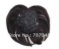 Wholesale 100 human hair toupee for bald top lace hair replacement