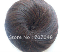 Wholesale Pony Tail Hair Extension Bun Hair piece Scrunchie Dark Brown color