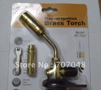 Wholesale HT Chef Brulee Blowtorch Jet Flame Torch Cooking Soldering Welding Brazing gas torch