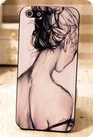 Wholesale Vintage british style sexy girl racerback shell for iphone s protective case for apple phone case