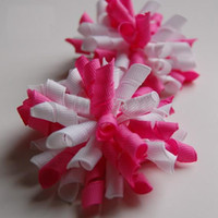 Wholesale korker bows Boutique hair bows Girls handmade grosgrain ribbon hairbows with clip hair clips AA