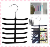 Wholesale 12 Bar Tie Belt Shawl Scarf Holder Hanger Closet Bedroom Organizer Storage Rack Hooks