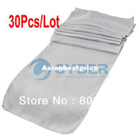 Wholesale High Quality Satin Table Runners quot x quot For Wedding Party Banquet Decoration Silver F