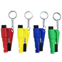 Wholesale car Auto safety hammer Window emperorship car keychain chain life saving hammer escape device