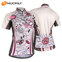 Wholesale New Women Outdoor Cycling NUCKILY Flower Pattern Jersey Bicycle S XXL