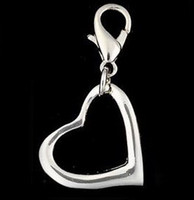 Wholesale High Polish Large Open Heart Dog Pet Pendant Charm Dog Jewelry Women Jewelry Moblie Jewelry