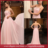 Wholesale New Arrival Strapless Beading Sequin Crystals A Line Floor Length Evening Party Dress