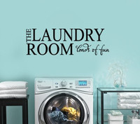 Wholesale THE LAUNDRY ROOM LOADS OF FUN Vinyl wall lettering quotes and sayings home art decor