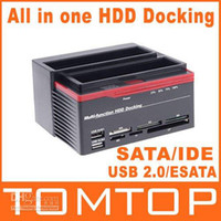 Wholesale 2 quot SATA IDE HDD Docking Station Clone USB HUB C1152