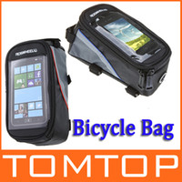 Wholesale Outdoor Cycling Sport bag Bike Bicycle bag Frame Front Tube pannier for Cell Phone PVC H9401 Series