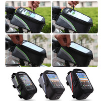 Wholesale Outdoor Cycling Sports bag Bike Bicycle bag Frame Front Tube pannier for Cell Phone PVC H9401 Series