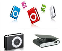 Wholesale DHL Mini Clip MP3 Player Card Reader MP3 Player With TF SD card slot Newest Style Color