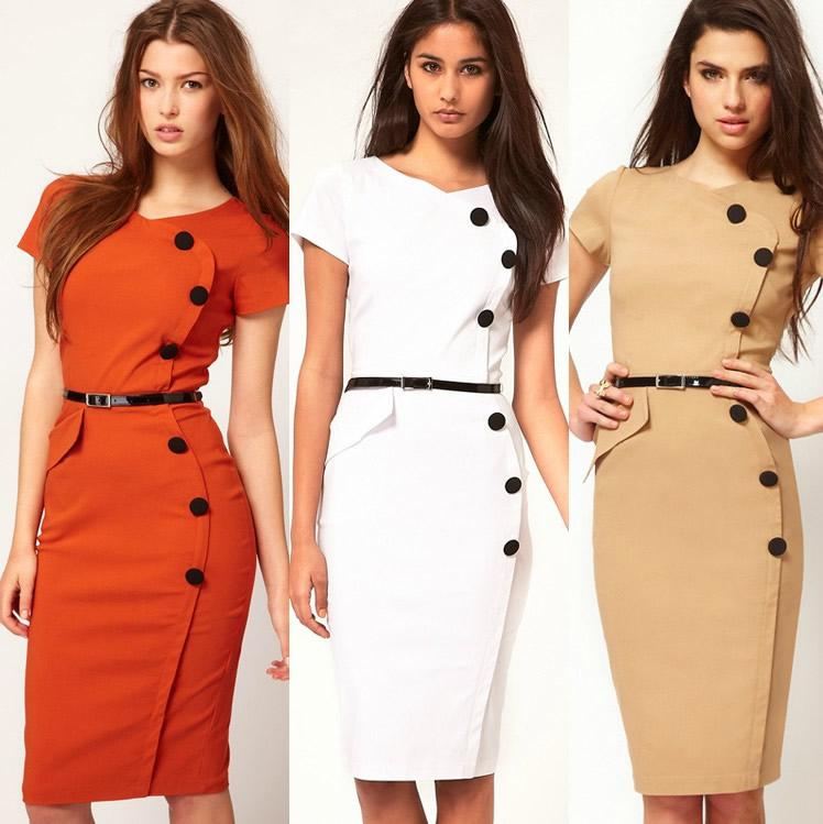 White Cocktail Length Dresses 90