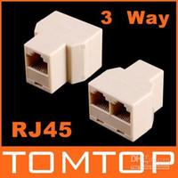 Wholesale View Larger Image RJ45 Way Network Cable Splitter Extender Plug Coupler C218