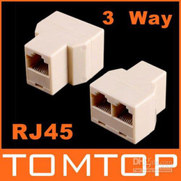 Wholesale View Larger Image RJ45 Way Network Cable Splitter Extender Plug Coupler C218