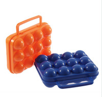 Wholesale Portable Picnic Camping Plastic Carrier Holder Storage Container Egg Box Case
