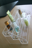 Wholesale Clear Acrylic Three Level Nail Polish Display Rack Table Counter Top OPI ESSIE CHINA GLAZE