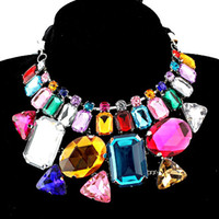 Wholesale Colorful Acrylic manual Necklaces fashion Necklaces statement necklace