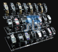 Wholesale Acrylic Organizer Jewerly Wrist Watch Rack Watches Display Stand Clear