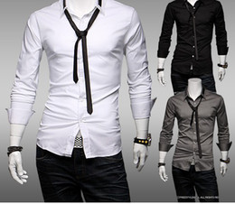 Wholesale Long Sleeve Men s Slim Casual New Style Shirt