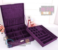 Wholesale Velvet Jewellery Box Jewelry Case Display Stand Holder