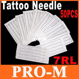 Wholesale 50 Disposable Round Liner sterile Sterilized Tattoo Machine Needles RL Free Dropshipping
