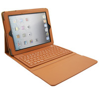 Wholesale Bluetooth Wireless Keyboard Foldable Leather Case For iPad iPad inch Tablet PC