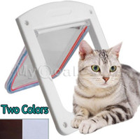 Wholesale 4 Way Locking Pet Flap Door Dog Cat Doggy Lockable Magnetic Tunnel Frame Porte